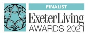Exeter Tutors Exeter Living Awards finalist logo 2021
